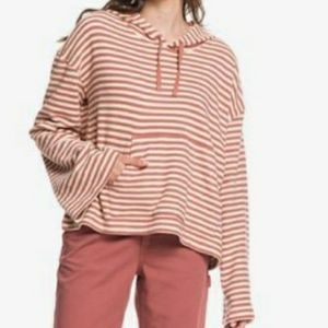 Roxy Get Casual Oversized Cropped Hoodie